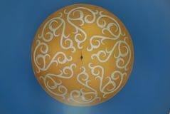 Brown, białego i błękitnego sufit ornamentujący, obraz royalty free