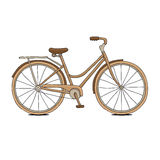 Brown bicycle. Royalty Free Stock Photos