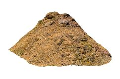 Pile of farmyard manure isolated on white background. A brown Big Pile of farmyard manure isolated on white background Royalty Free Stock Image