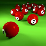 Brown billiard balls number seven Royalty Free Stock Photos