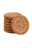 Brown  biscuit Royalty Free Stock Images