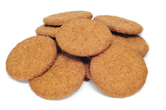Brown biscuits Royalty Free Stock Photos