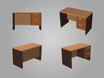 Brown biura stołu wektor ilustracja wektor