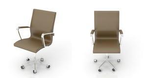 Brown biurowy krzesło Zdjęcie Royalty Free