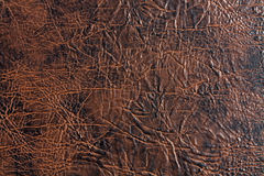 Brown and black artificial leather texture. Stock Image