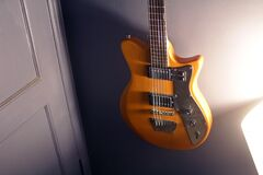Brown and Black Electric Guitar Stock Photos