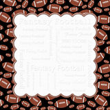Brown and Black Fantasy Football Frame Background Stock Image