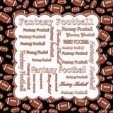 Brown and Black Fantasy Football Royalty Free Stock Photo