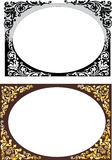 Brown and black frames Royalty Free Stock Photos