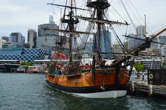 Brown and Black Galleon Ship Stock Images