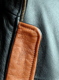 Brown and black leather jacket Royalty Free Stock Photos