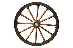 Brown and black old wooden wheel Royalty Free Stock Photos