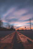 Brown and Black Road Pavement during Sunset View Stock Photography