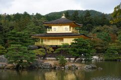 Brown and Black Temple Surrounded by Trees Stock Photos