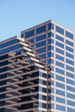 Brown Black and White Striped Glass Office Building Stock Photography