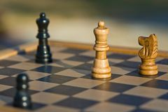 Brown and Black Wooden Chess Piece Royalty Free Stock Photography