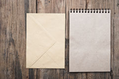 Brown blank note book Stock Image