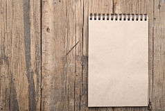 Brown blank note book Stock Photo