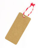 Brown blank tag Royalty Free Stock Photo