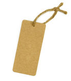 Brown blank tag Stock Photography
