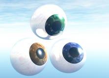 Brown-blaue und grüne Augen Lizenzfreie Stockbilder