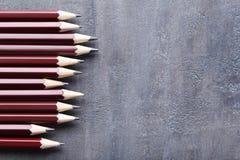 Brown-Bleistifte Stockfoto