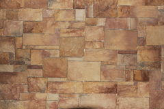 Brown block or brick wall Royalty Free Stock Photo