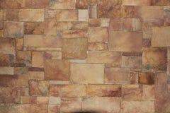 Brown Block Or Brick Wall Royalty Free Stock Photo