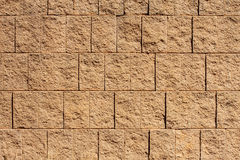 Brown Block Wall for Backgrounds or Textures Stock Images