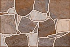 Brown blockiert nahtlosen den Muster-abstrakten Hintergrund Stockbild