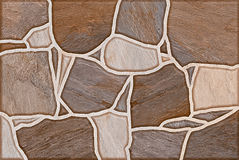 Brown Blocks Pattern Abstract Background Seamless Stock Image
