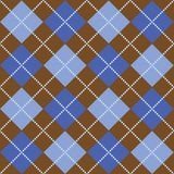 Brown and Blue Argyle. Background illustration of blue and brown argyle pattern Royalty Free Stock Photos