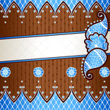 Brown & blue banner inspired by Indian mehndis Stock Image