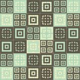 Brown blue and cream and white squares inside squares cube pattern background. Brown blue and cream squares inside squares cube pattern background wallpaper Royalty Free Stock Photos