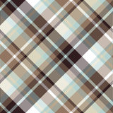 Brown blue diagonal check plaid seamless pattern Stock Photo