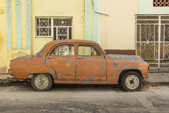 Brown blue dotted 1950s car Havana Royalty Free Stock Image