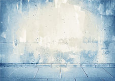Brown,blue grunge concrete wall texture with Royalty Free Stock Photos