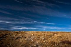Brown blue horizon Royalty Free Stock Photography