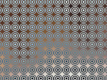 Brown Blue Irridescent Wallpaper. An illustration of repeated blue circular design on a varigated brown background for use in website wallpaper design Stock Photos
