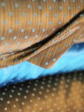 Brown and blue luxury silk fabric Royalty Free Stock Images