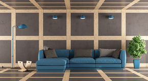 Brown and blue modern lounge Stock Photo