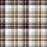 Brown blue seamless check fabric texture Royalty Free Stock Image