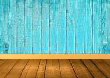 Brown and Blue Wooden background Royalty Free Stock Photos