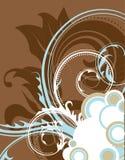 Brown-Blumenhintergrund. Stockfoto