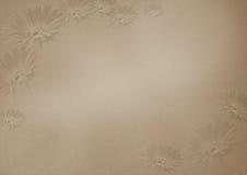 Brown-Blumenhintergrund mit Beschaffenheit Lizenzfreies Stockfoto