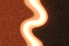 Abstract brown blur. A pale squiggle in the middle of a brown abstract blur Royalty Free Stock Photography