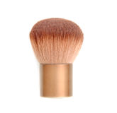 Brown blush brush isolated on white. Makeup Tool Royalty Free Stock Images