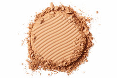 Brown blush cosmetic crushed Royalty Free Stock Photo