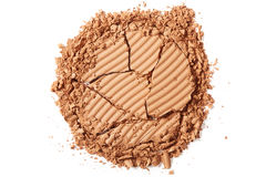 Brown blush crushed on white background Royalty Free Stock Images
