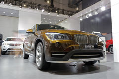 Brown bmw x1 Stock Images